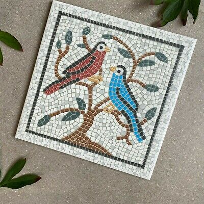 MARAZZI Traditional Mosaic Effect Birds Pattern  20 X 20 Wall Tile  • 7.95£
