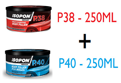 U-POL Isopon P40 & P38 Fibre Glass Body Filler Compound Car Body Repair Paste • 19.99£