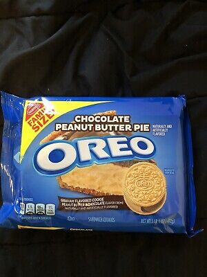 NEW Nabisco Oreo Chocolate Peanut Butter Pie Cookies FAMILY SIZE FREE SHIPPING • 10.44£