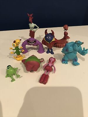 Bundle Disney Figures Cake Topper Monsters Inc University MINI Sully Mike Girl • 5.95£