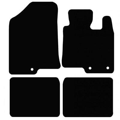 Tailored Black Car Floor Mats Carpets 4pc Set With Clips For Hyundai I40 • 11.84£