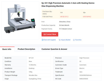 $1500 • Buy High Precision Automatic Filling Machine 3 Axis With Heating Device