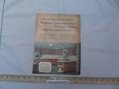 Vintage 1960's Sales Brochure Mengels Kitchen Cabinets Union City Indiana IN   • 13.28£