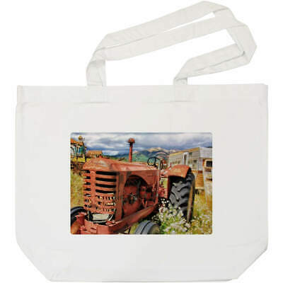 AU23.38 • Buy 'Old Red Tractor' Tote Shopping Bag For Life (BG00005762)