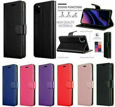 Case For IPhone 6 7 8 5S PLUS XR 11 12  Cover Real Genuine Leather Flip Wallet • 3.15£