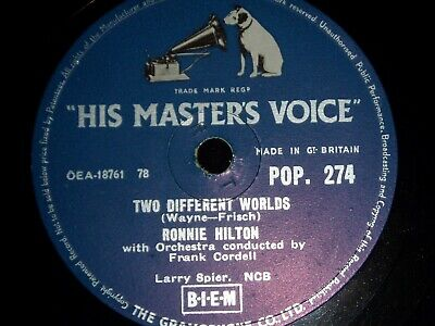 £7 • Buy Ronnie Hilton - Two Different Worlds  78  Record