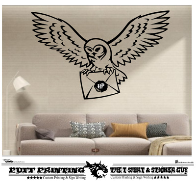 Harry Potter Inspired Stickers Wall Owl Letter Stickers Art Bedroom Kitchen Home • 2.98£