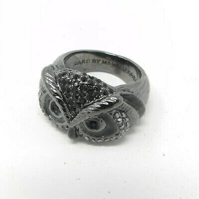 £28.97 • Buy Marc By Marc Jacobs Black Fantastical Wise Owl Face Ring Size 8.5 Detailed