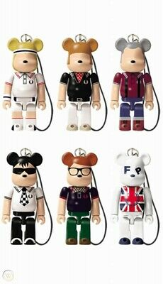$59 • Buy  Lipton Be@rbrick Fred Perry 70% Phone Strap 2012 Bearbrick All 6 Complete Set