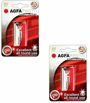 AU4.81 • Buy 9V BATTERY LONG LIFE Zinc Carbon 9 Volt Batteries Smoke Alarm 2 Pack
