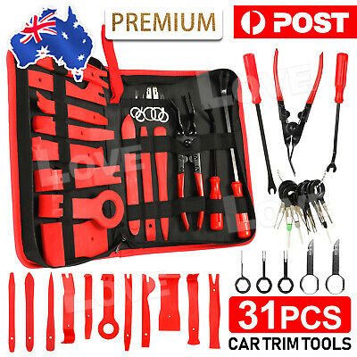AU25.90 • Buy 31x Car Trim Removal Tool Set Hand Tools Panel Pry Bar Door Interior Clip Kit AU