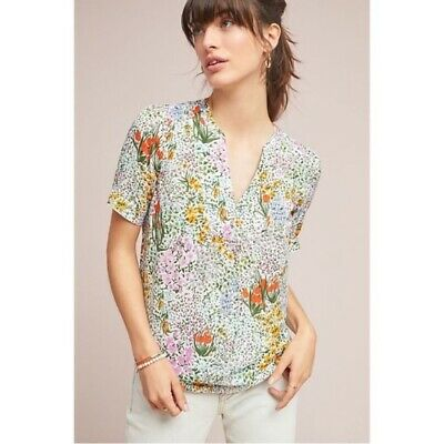 $ CDN40 • Buy Anthropologie Floral Blouse Conversations 4 Of 52 Sz US 6, NWT