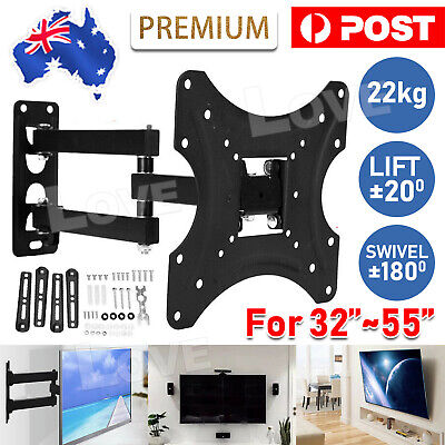 AU23.95 • Buy Corner TV Wall Mount Bracket Tilt Swivel 32 37 40 43 48 50 52 55  Plasma LCD LED