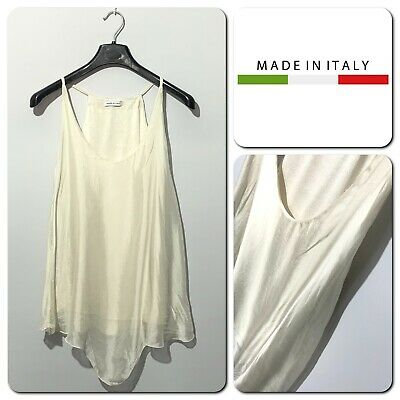 Made In Italy Women's Silk Sleeveless Top Size M (UK Size 12) • 9.95£