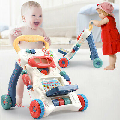 Interactive Baby Walker First Steps Push Along Bouncer Activity Music Melody Toy • 16.59£