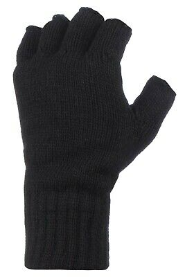 AU19.99 • Buy Heat Holders Winter Warm Thermal Fingerless Outdoors Gloves Mens One Size