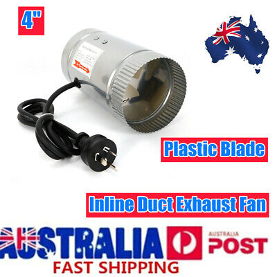 AU24 • Buy 4  Inch/100mm Inline Duct Booster Fan Ventilation Exhaust Air Blower AU STOCK