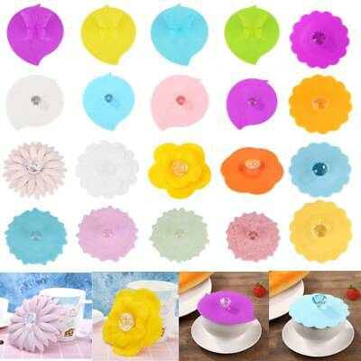£1.97 • Buy Large Silicone Anti-dust Glass Diamond Cup Cover Coffee Mug Suction Seal Lid Hot