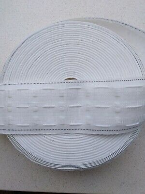 3   75mm Rufflette Curtain Pencil Pleat Header Tape Style Purchase By The Metre • 1.12£