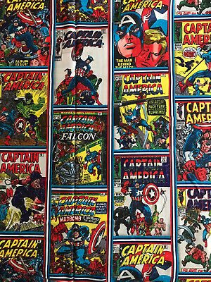 Marvel Captain America Character Fabric Fq Quilting Super Hero Comic  Avenger • 4.99£