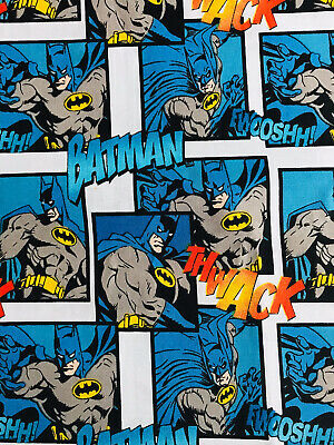 DC Comic Batman Comic Strip Fabric Fq  Super Hero Bat Blue/Hero • 4.99£