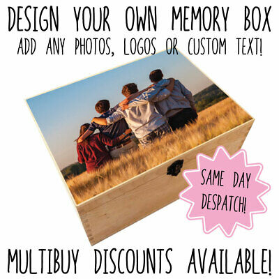 Personalised Photo Birthday Keepsake Memory Box Add You Photo • 9.95£