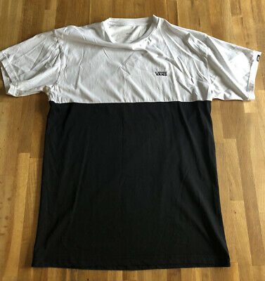 Womens Medium Black And White Vans T Shirt • 11.50£