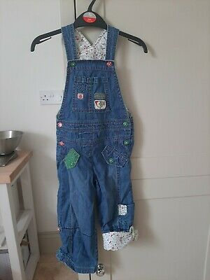 Next Girls Dungarees Age 3-4 Years  • 9.99£