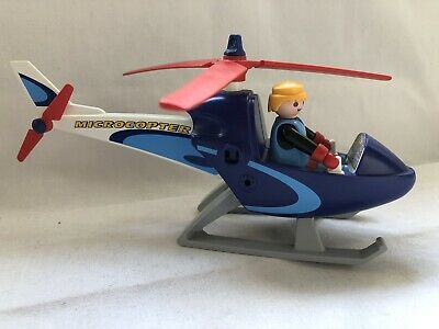 Playmobil Press Helicopter - Figure & Microcopter 4423 - Free Postage • 10£
