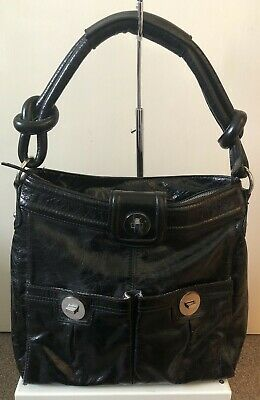 Lovely AUTOGRAPH (M&S) Black Real Leather Shoulder Bag • 14.99£