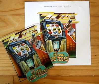 ZZ TOP  VIVA LAS VEGAS Limited Edition VINYL Shaped Picture Disc + Backing Card  • 23.99£
