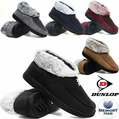 £13.95 • Buy Ladies Slippers Women Dunlop Memory Foam Fur Thermal Ankle Boots Warm Shoes Size