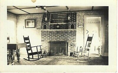£2.90 • Buy #1756P Vintage Photo Two Rocking Chairs Next To Gorgeous Fireplace In Livingroom
