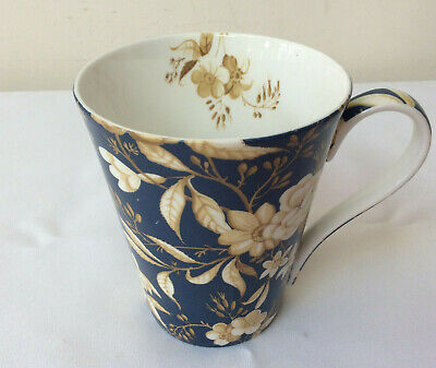 Victoria & Albert Museum London Mug Blue Beige Floral Fine Bone China  • 13.99£