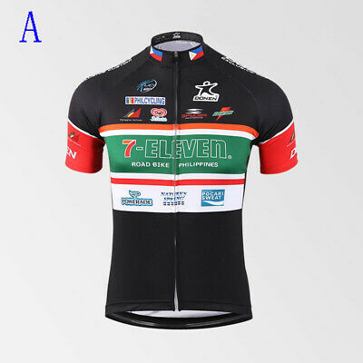 AU28.42 • Buy Retro Mens 7 Eleven Cycling Jersey Cycling Short Sleeve Jersey Bicycle Jerseys