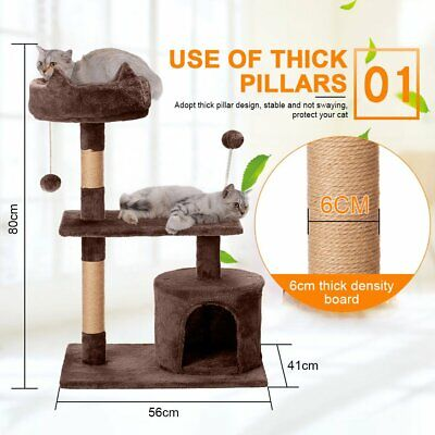 Cat Tree Tower 59  STURDY Activity Center Large Playing House Condo For Rest • 45.99£