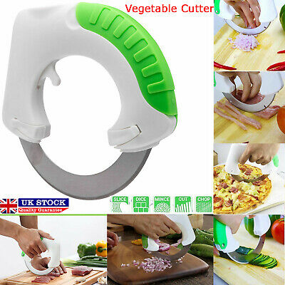 Rolling Circular Knife Food Slicer Kitchen Tool Vegetable Chopper Pizza Cutter • 4.65£