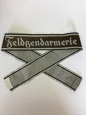 WW2 German Army Feldgendarmerie Field Police Officers Woven Bevo Cuff Title Band • 5.95£