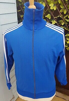 Vintage Adidas Schwahn Tracksuit Track Top Blue Size 4 XS/S Made In West Germany • 50£