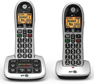 BT 4600 Twin Big Button Digital Cordless Telephones With Advanced Call Blocker • 44.99£