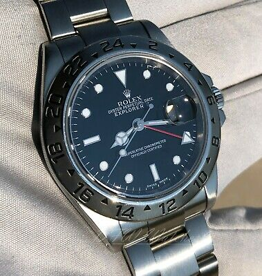 $ CDN8814.54 • Buy Rolex Explorer II 40 Black 16570 Red GMT Hand 40mm - DFW Watches Warranty