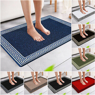 £9.49 • Buy Non Slip Bath Mat Water Absorbent Shower Mats Small Large Washable Bathroom Rugs