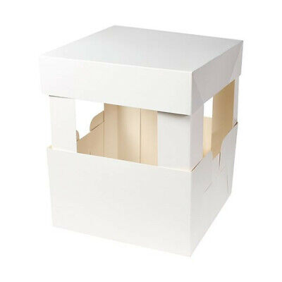 Cake Box Corner Extension Cards 12  For Tall / Tiered Cakes Wedding 4 Corners • 3.95£