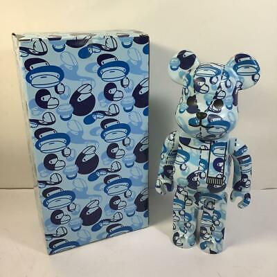 $550 • Buy Medicom Toy BE@RBRICK Bearbrick A Bathing Ape Bape Camo Blue 400%