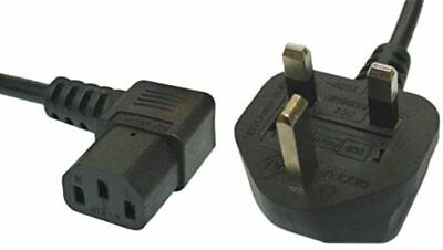 2 X 2m Power Cable UK Plug To Right Angle IEC C13 Cable Kettle Lead, HP Longwell • 6.95£
