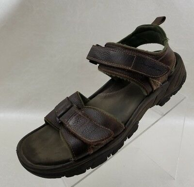 Rockport Mens Fisherman Sandals Brown Leather Ankle Strap Open Toe Size 12 • 20.56£