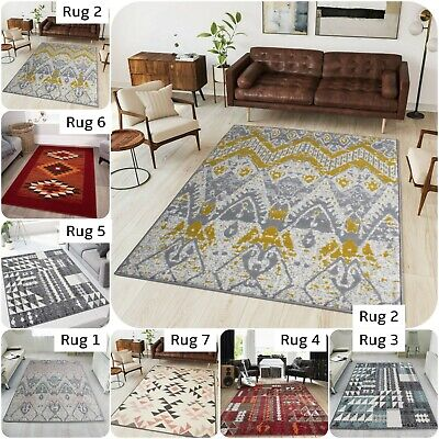 Aztec Tribal Rugs For Living Area Rug With African Design Trending Now Runner UK • 39.95£