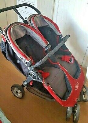 Baby Jogger City Mini Gt Double / Twin Crimson Red Pushchair / Stroller • 189£