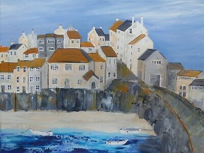 St Ives Colours : Original Painting, Cornwall, Sea, Boats, Harbour, Beach, • 80£