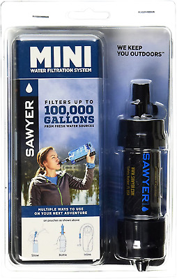 AU50.10 • Buy Sawyer Products MINI Water Filtration System Black Portable Filter Camping New
